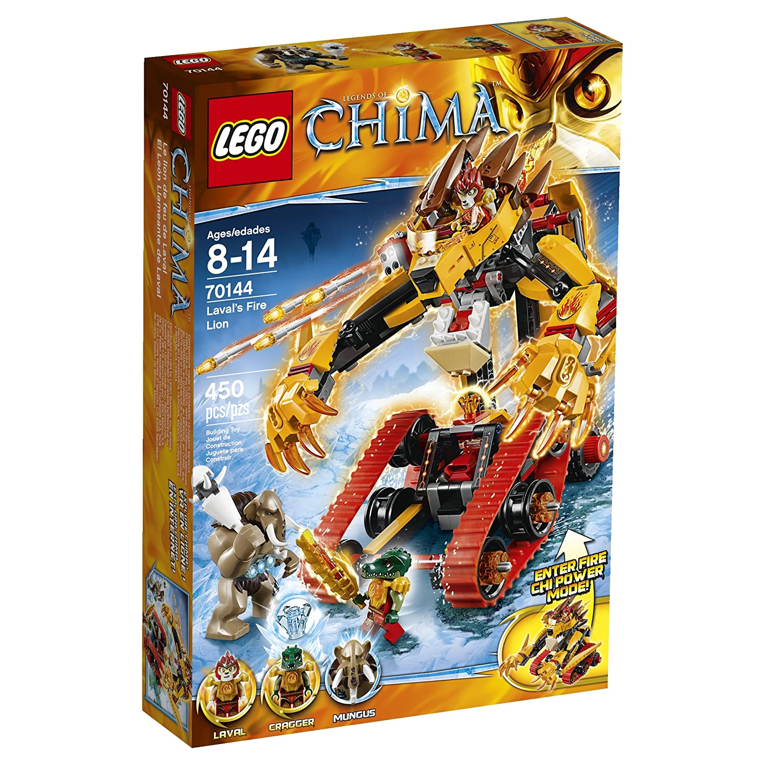 Amazon chima party supplies - Amazon Com Lego Chima 70144 Laval S Fire Lion Building Toy Toys Games