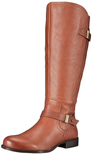 Naturalizer Women's Joan Wide Calf Riding Boot, Banana Bread WC, ...