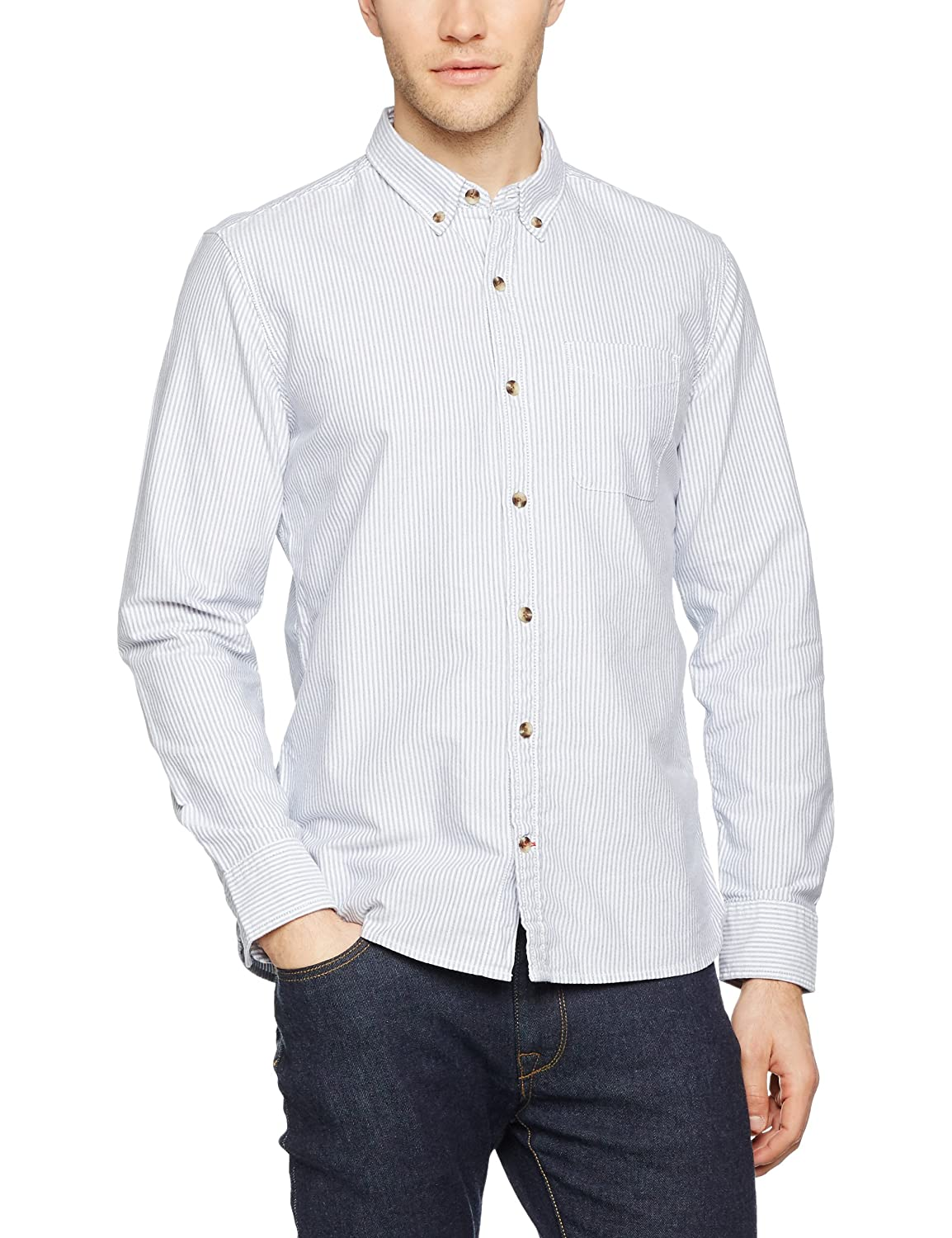 TALLA M. Fat Face Oxford Stripe Shirt, Camisa para Hombre