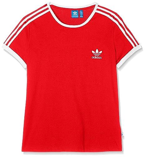 Adidas Sandra 1977 Camiseta, Mujer, Rojo (Rojbas), 38