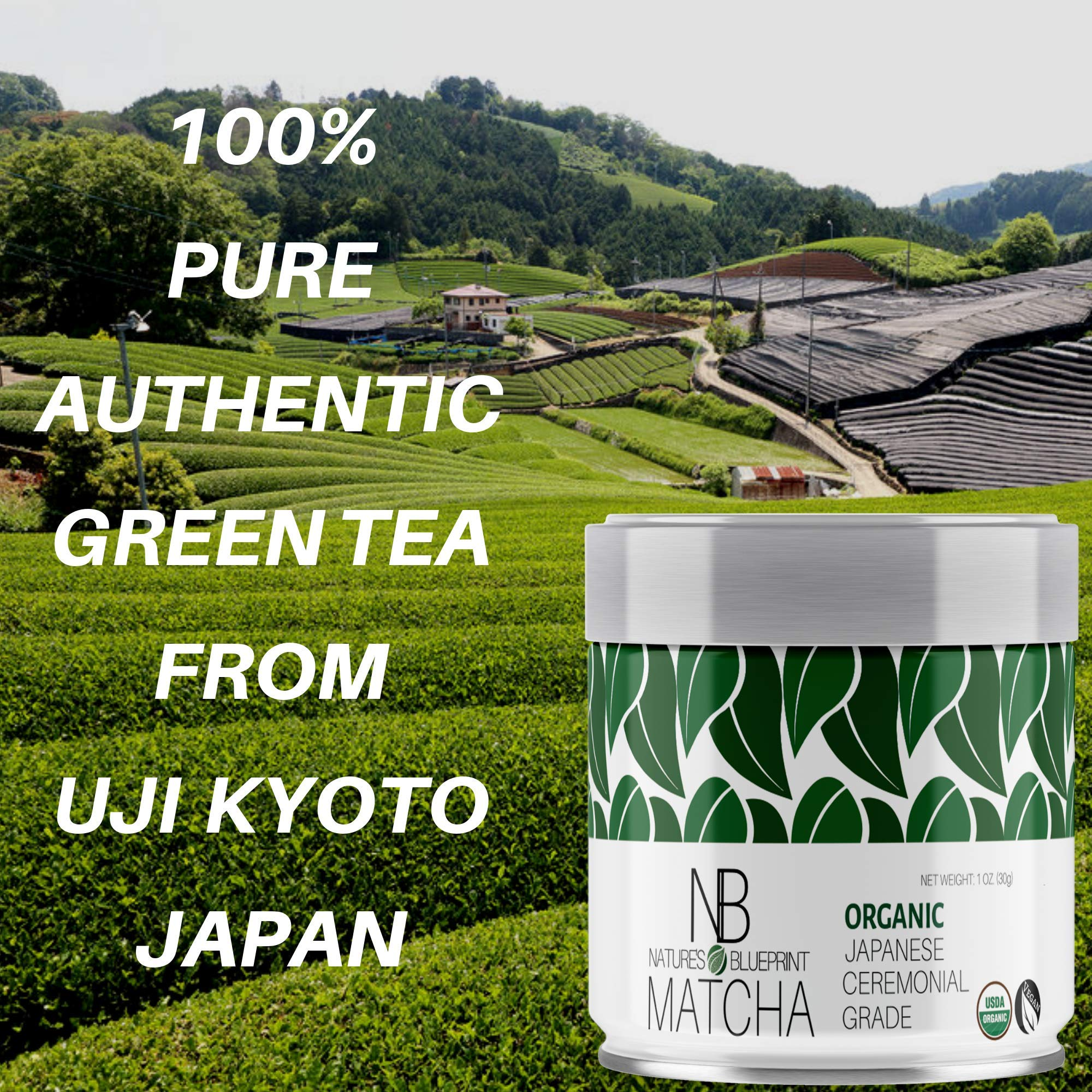 Matcha Green Tea Powder-3 Pk-Organic Japanese Ceremonial Grade Straight from Uji Kyoto, Premium Quality-3 oz BUNDLE contains Powerful Antioxidant Energy for NON-GMO Health. … by Nature's Blueprint (Image #7)
