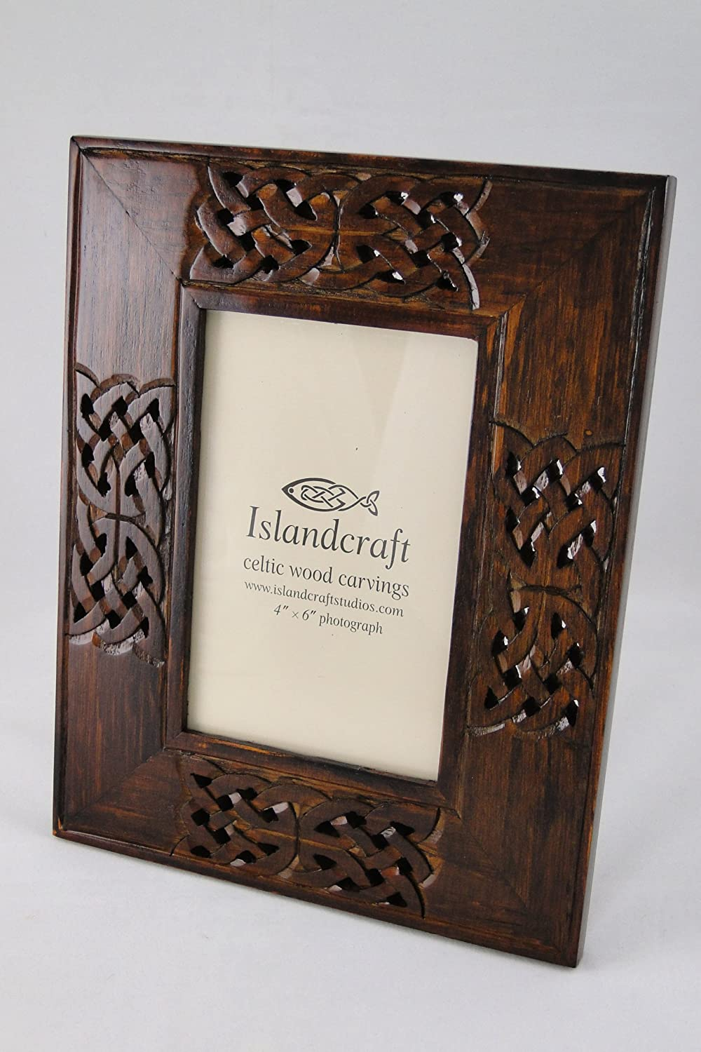 Amazon celtic knot wooden picture frame hand carved 4x6 amazon celtic knot wooden picture frame hand carved 4x6 single frames posters prints jeuxipadfo Image collections