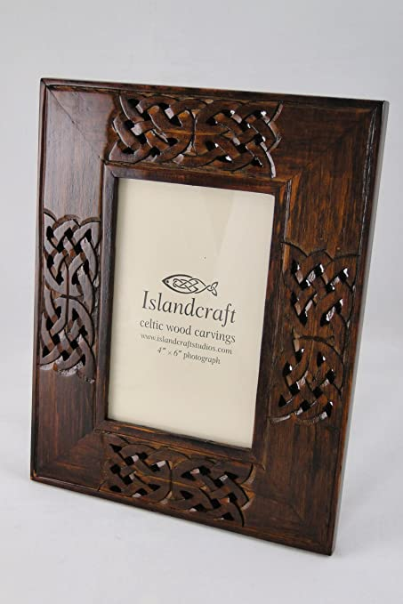Celtic Knot Wooden Picture Frame Hand Carved 4x6
