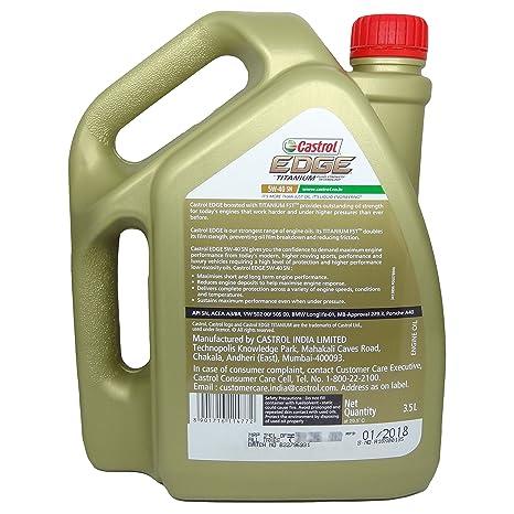 Castrol 6114772 Edge Ti 5W-40 Car Engine Oil (3 5 L)