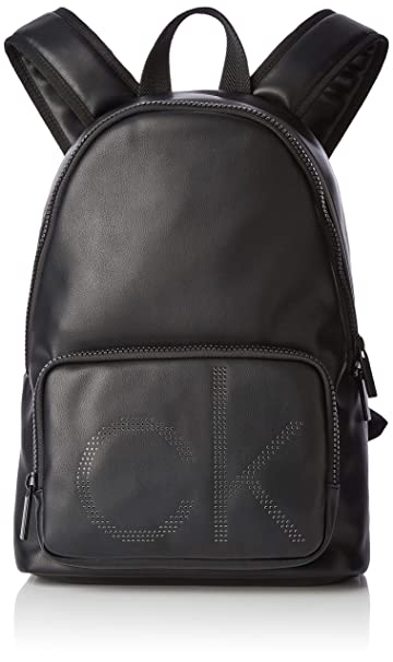 5007edc8cf Calvin Klein Ck Up Round Backpack, Men's Black, 18x42x28 cm (B x H T ...