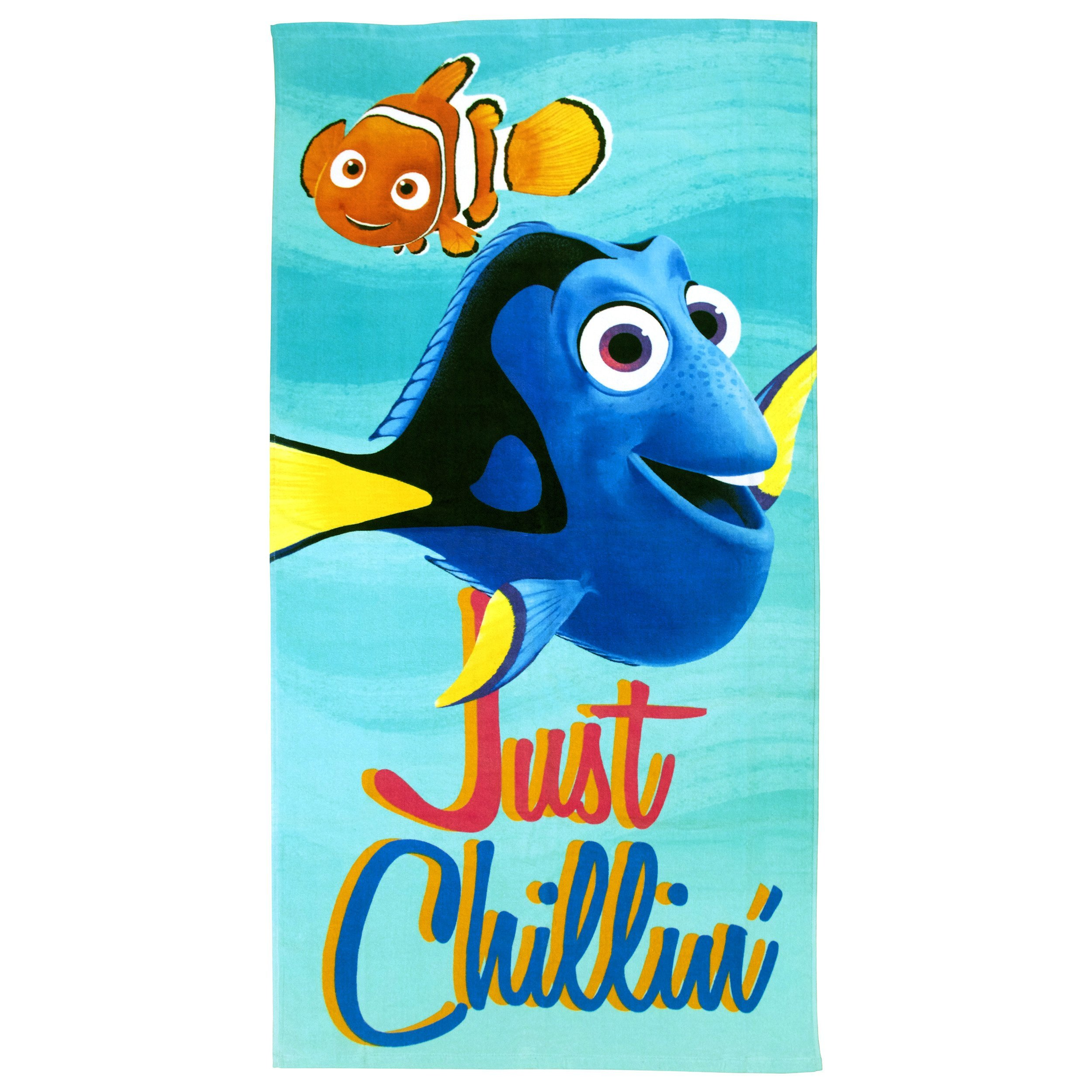 Disney/Pixar Finding Dory Surf Plush Beach/Bath/Pool 100% Cotton Towel, 28'' x 58''