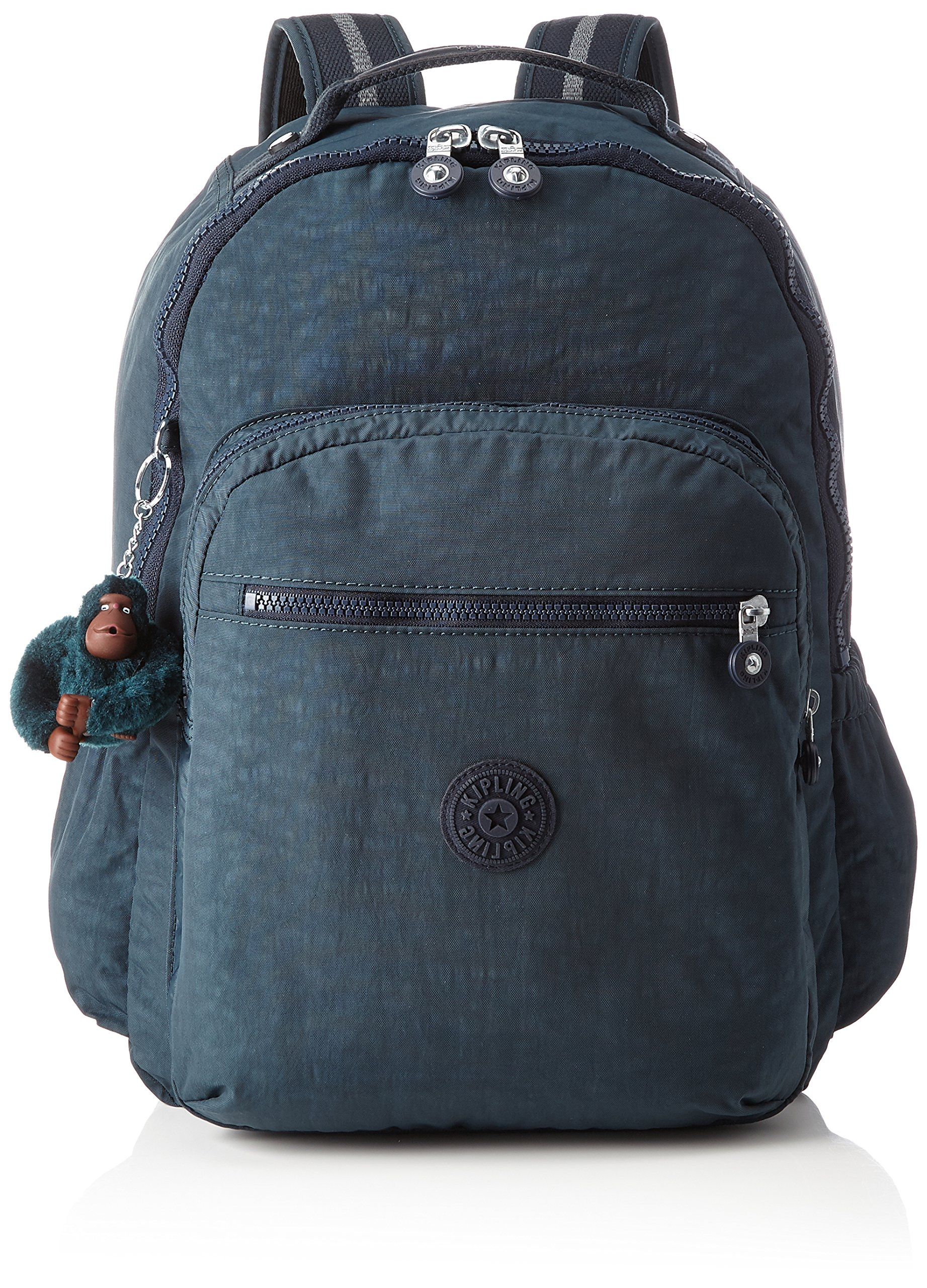 Kipling Seoul Up Large Backpack With Laptop Protection Pink Emerald Combo