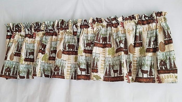 Amazon.com: Rustic Valance Curtains, Kitchen Curtains, Lodge ...