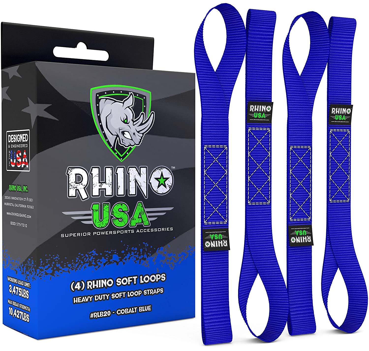 RHINO USA - Correas suaves para corbata de motocicleta: Amazon.es ...