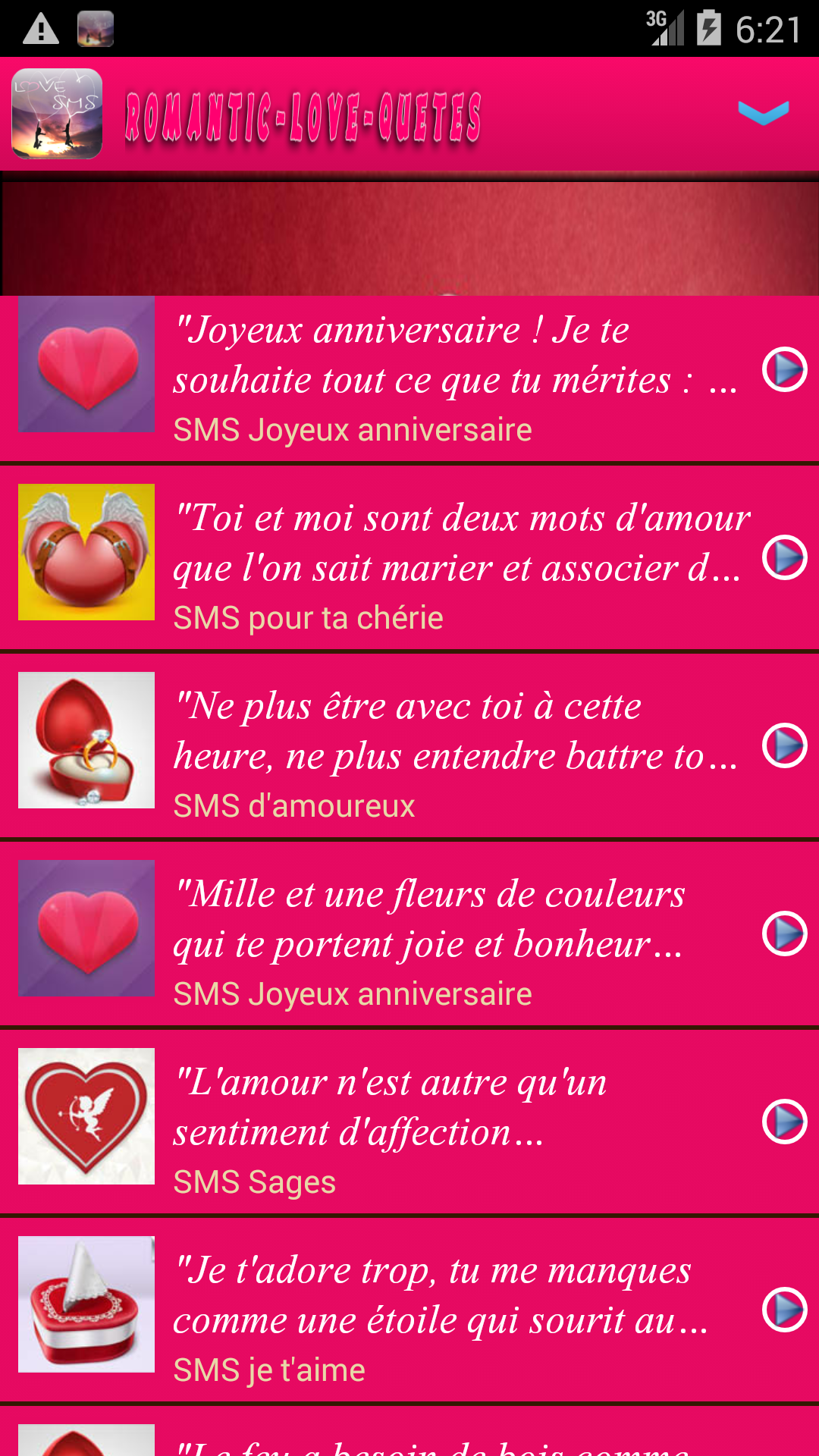 Love Sms In French Amazones Appstore Para Android