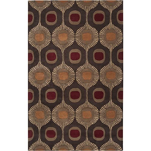 Surya Forum FM-7170 Transitional Hand Tufted 100 Wool Dark Chocolate 5 x 8 Global Area Rug