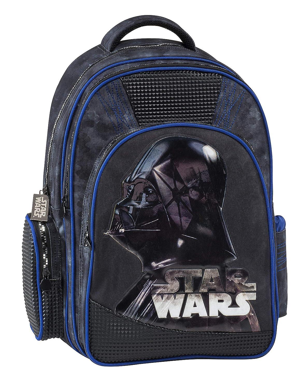 44 cm Negro Black Graffiti Star Wars Mochila Escolar