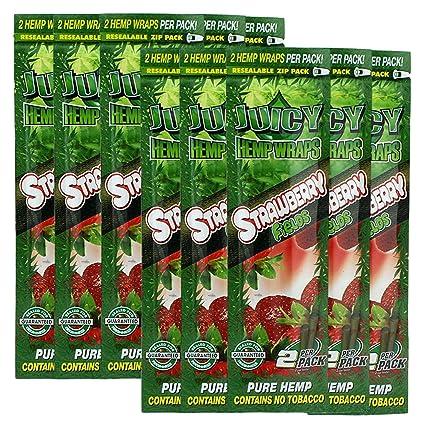 Juicy Jay Hemp Wraps Strawberry (10 Packs, 2 Wraps Per Pack) Total 20 Wraps  with ES Scoop Card