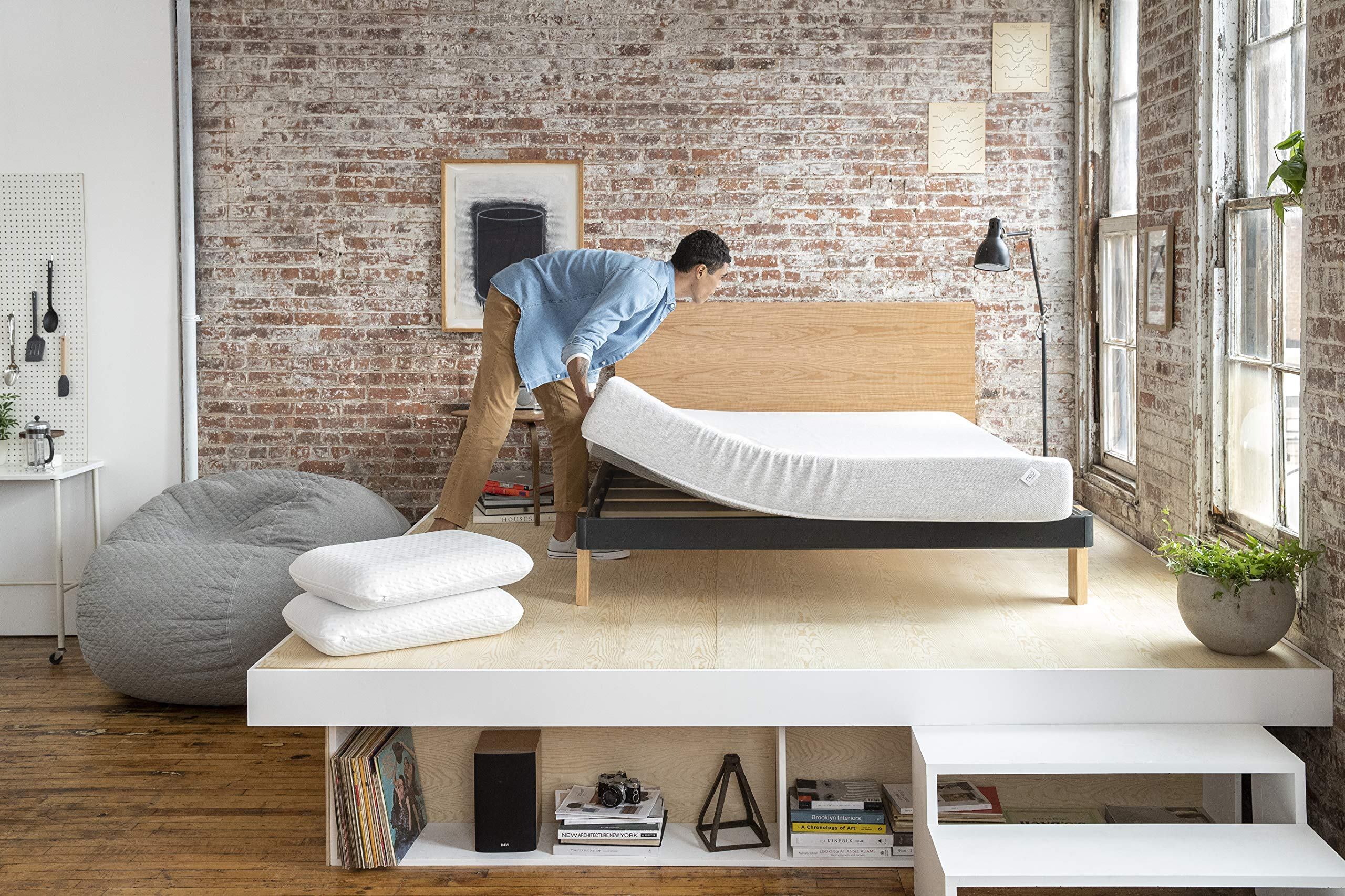 Nod by Tuft & Needle Twin Mattress, Amazon-Exclusive Bed in a Box, Responsive Foam, Sleeps Cooler & More Support Than Memory Foam, More Responsive Than Latex, CertiPUR-US, 10-Year Limited Warranty. by Nod by Tuft & Needle