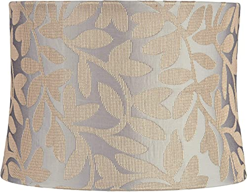 Le Mans Taupe Embroidered Drum Lamp Shade 13x14x10 Spider – Springcrest
