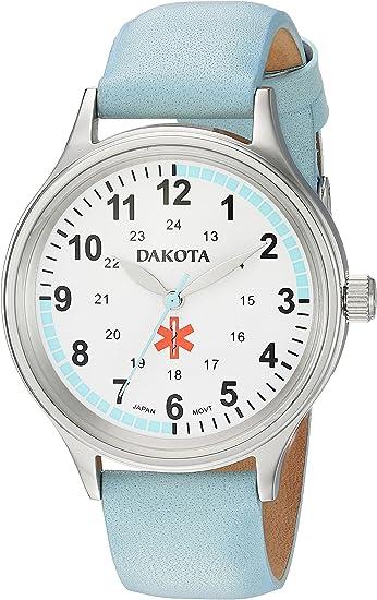 Amazon.com: Dakota - Reloj casual de piel para mujer: Watches