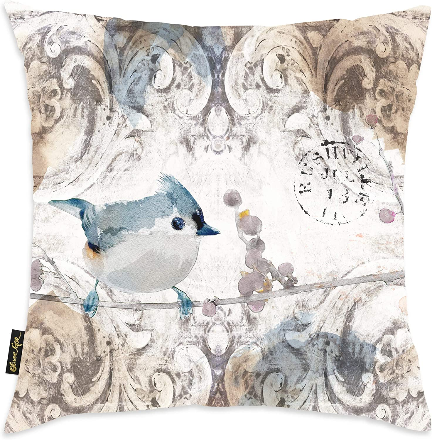 Animals Decorative Throw Pillow Bird Singing In The Morning Home Kitchen