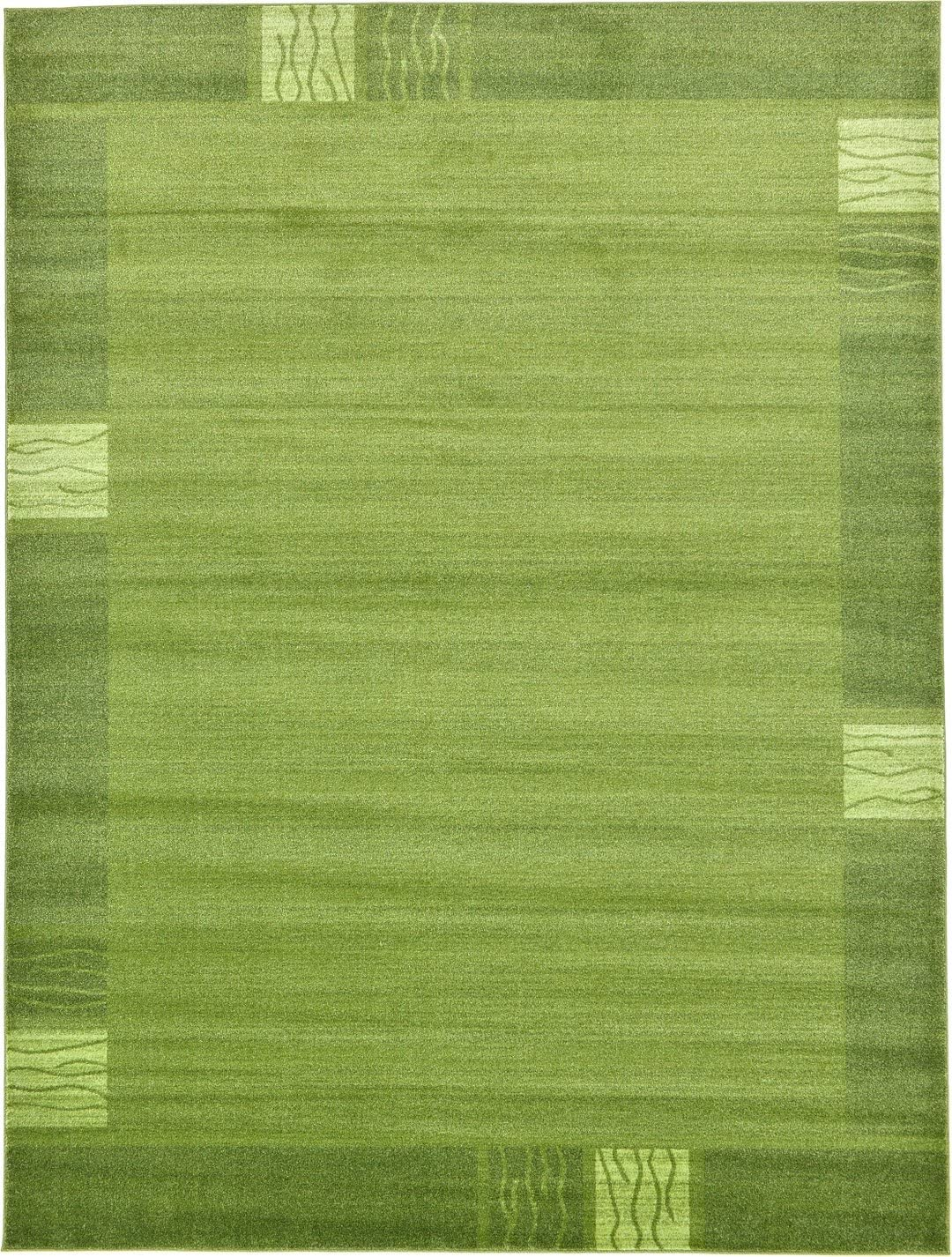 Over-Dyed Modern Vintage Rugs Light Green 9 x 12 FT Palma Collection Area Rug – Perfect for Any Place