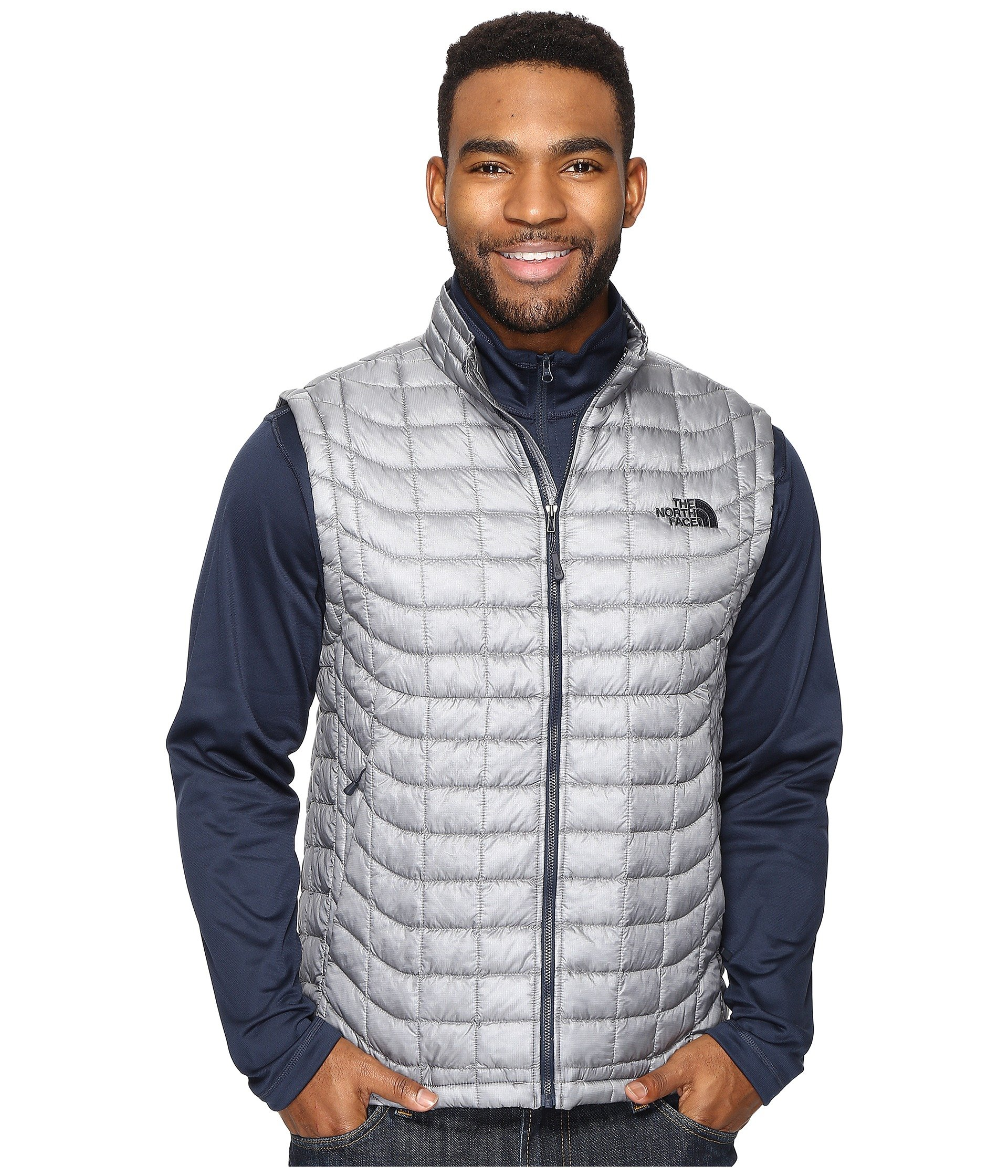 The North Face Mens Thermoball Vest (XX-Large, Mid Grey/Urban Navy)