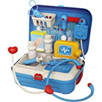 Parteet Carry Along Doctor Play Set, Medical Set, Pretend Play Toy 17 Playing Accessories