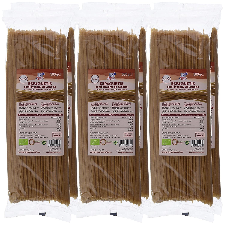 La Finestra Sul Cielo Espaguetis de Espelta - 6 Paquetes de 500 gr - Total: 3000 gr