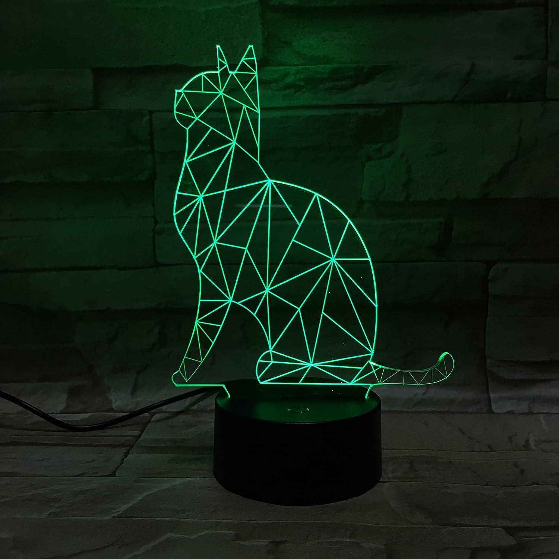 3D ナイトライト B071G8XB38 10609 猫 猫