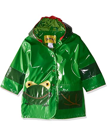 58f32604f Kidorable Green Frog PU All-Weather Raincoat for Boys With Fun Frog Mouth  Pocket