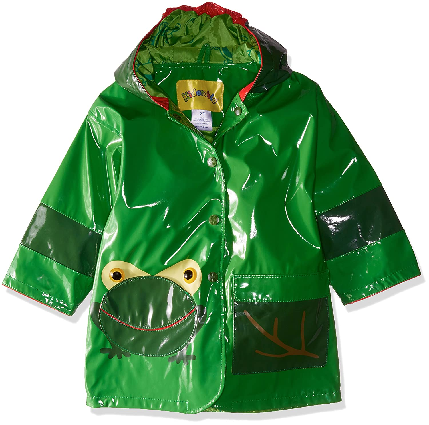 0e17f5737 Amazon.com: Kidorable Green Frog PU All-Weather Raincoat for Boys With Fun  Frog Mouth Pocket: Clothing