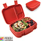 Bentgo Fresh (Red) – Leak-Proof & Versatile 4-Compartment Bento-Style Lunch Box – Ideal for Portion-Control and Balanced Eating On-the-Go – BPA-Free and Food-Safe Materials