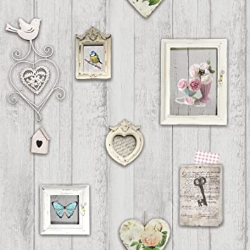 Windsor Wandbekleidungen Shabby Chic Frames Tapete - 1044: Amazon.de ...