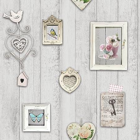 Windsor Wallcoverings Shabby Chic Frames Wallpaper 1044 Pale