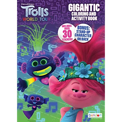 DREAMWORKS TROLLS World Tour 192-Page Coloring and Activity Book 47362: Toys & Games
