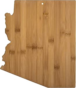 Totally Bamboo 20-7961AZ Arizona State Shaped Bamboo Serving & Cutting Board