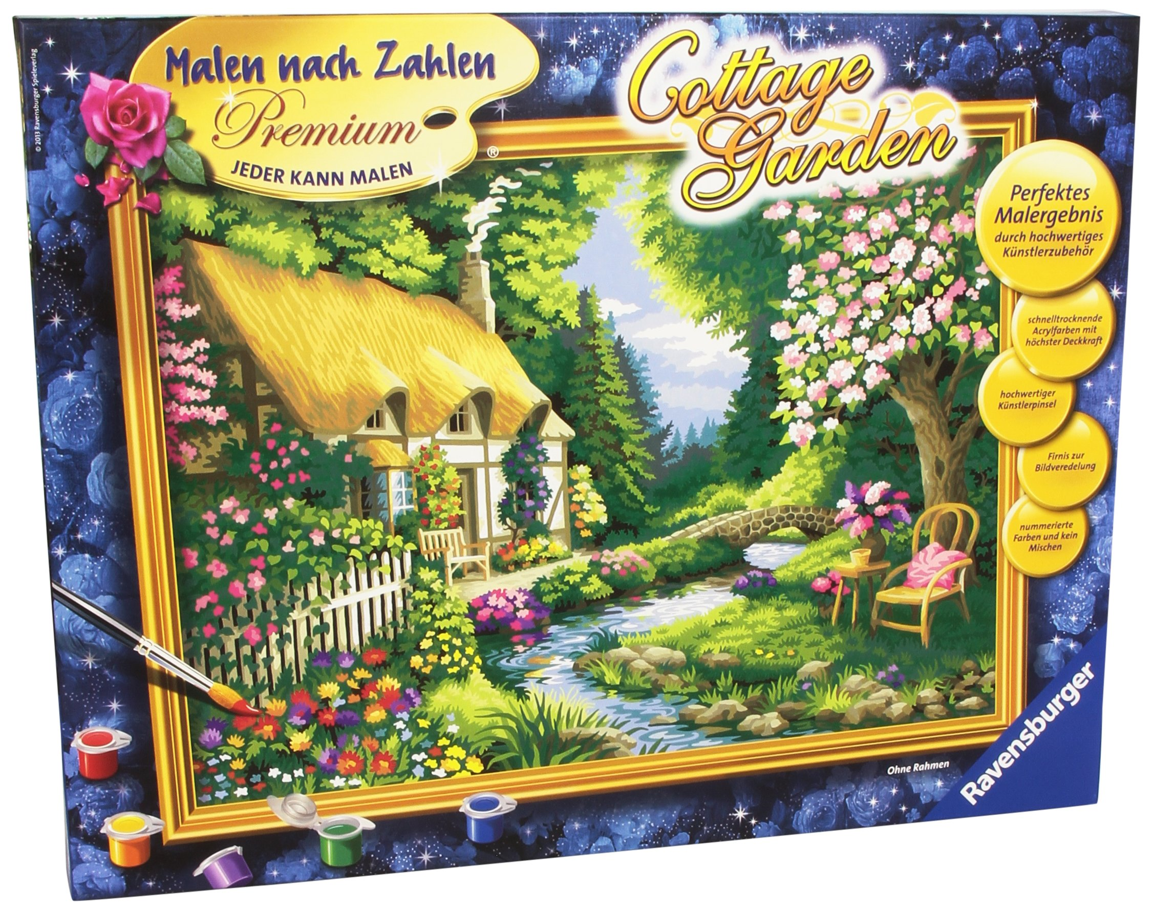 Ravensburger 28843 4 Paint by Numbers Cottage Garden by Ravensburger
