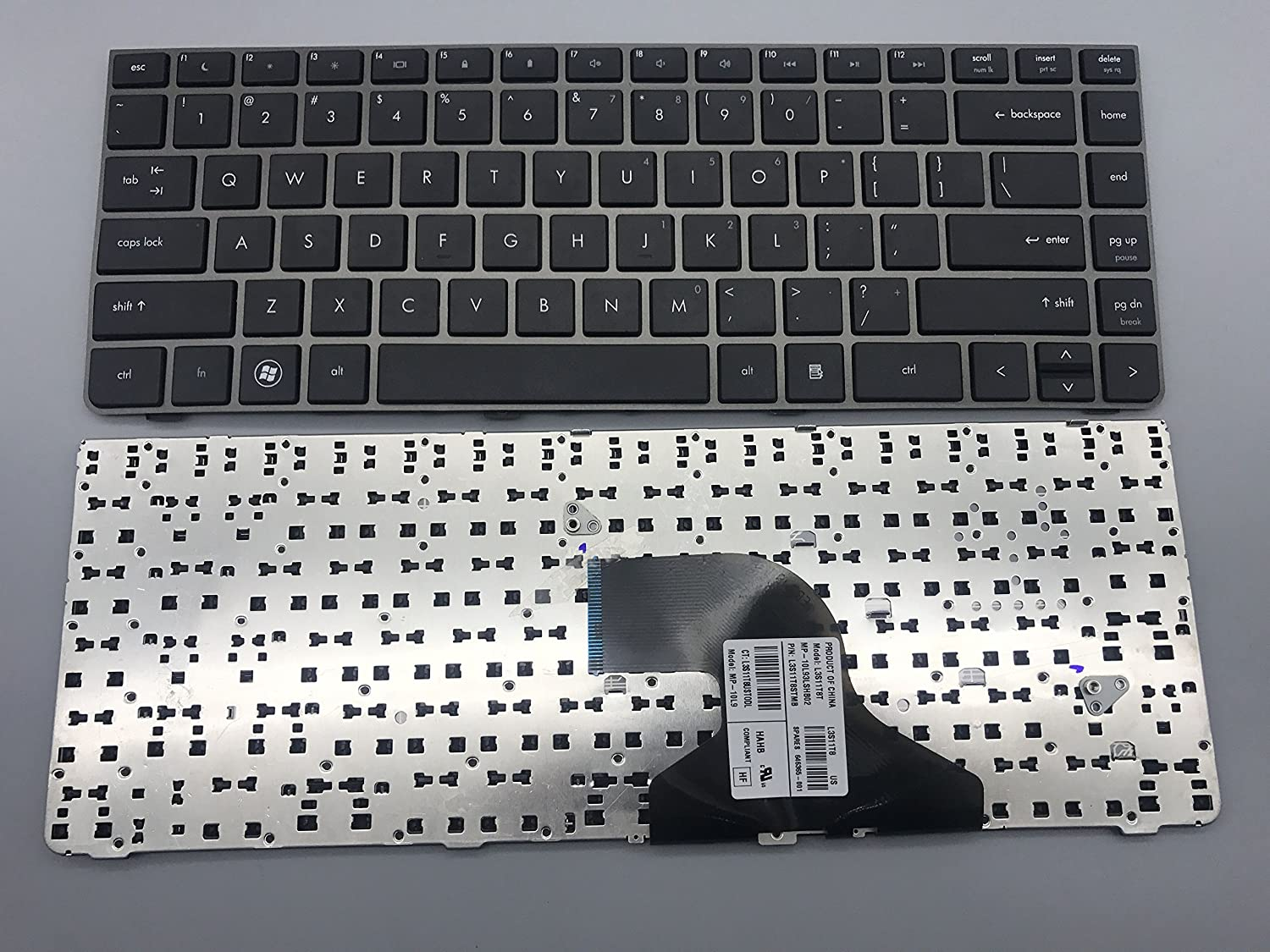 New Keyboard for HP ProBook 4330 4330S 4331S 4430s 4431s 4435s 4436s Series US Layout P/N: L3S11T8T MP-10L93LSHB02 L3S11T8STMB Gray Frame Black keycap