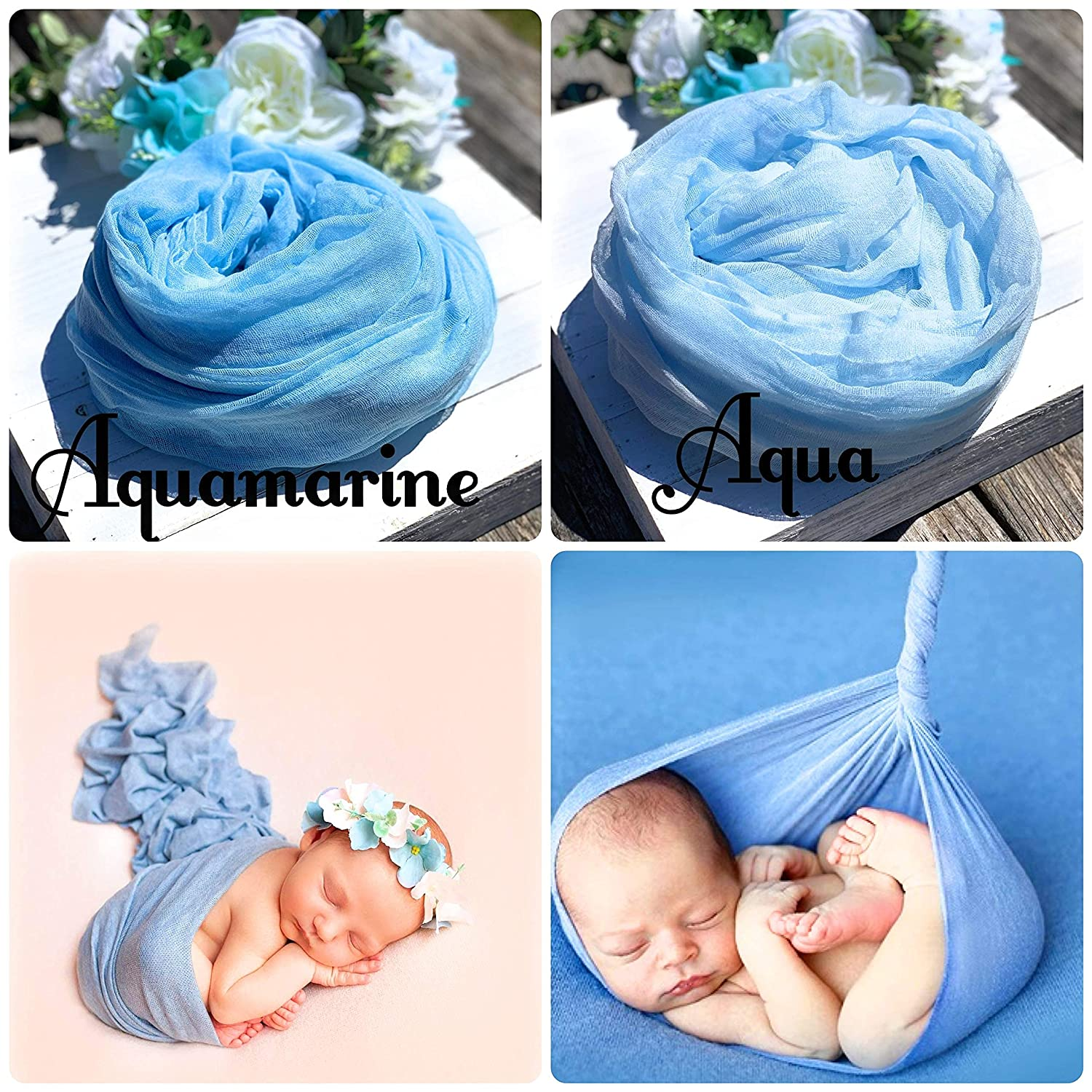 Baby Boy or Baby Girl Cheesecloth Wrap Teal Photography Prop Newborn Photography Wrap Maternity Photo Wrap