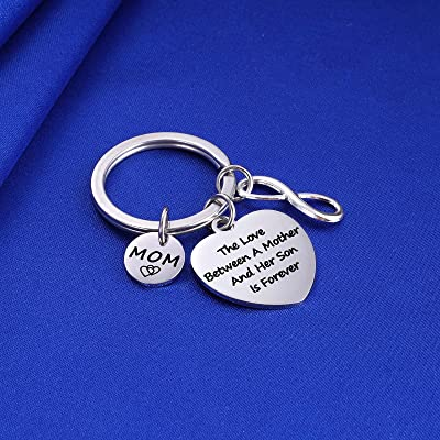 MOTHER AND DAUGHTER KEYCHAIN CHARMS YOU ARE AN ANGEL new mum love gift rose gold
