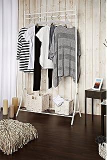 Kleiderständer Weiß Metall dipamkar shabby chic kleiderständer kleiderstange garderobenständer