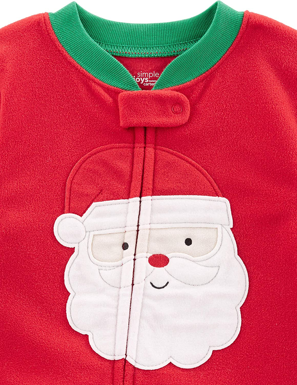 Carters Fleece Footed pajama Blanket Sleeper 8 10 12 14 Christmas Santa Penguin