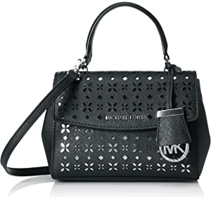 445056fab8e2 MICHAEL Michael Kors Ava Extra-Small Perforated-Leather Crossbody ...