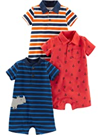 833da3a1c976 Simple Joys by Carter s Baby Boys  3-Pack Rompers