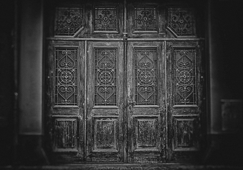 MME 10 x 7フィート ヴィンテージ ブラックとホワイト 宮殿 ゲート背景 YouTubeレコードビニールビデオスタジオ小道具 ME385   B07L9L563G