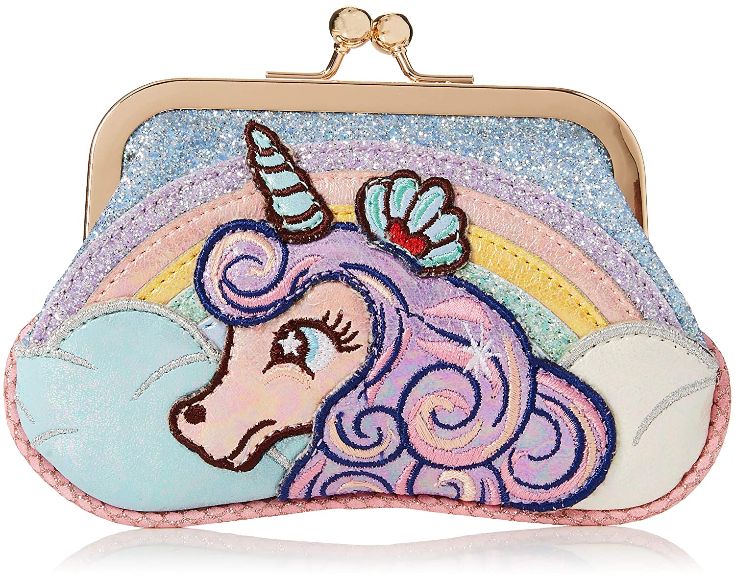 Irregular Choice Lady Daisy Purse, Porte-monnaie femme, Multicolore (Purple/Blue), 3x15x10 cm (W...