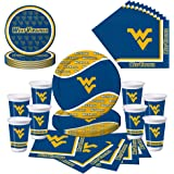West Virginia University WVU Mountaineers Party Pack - Plates, Cups, Napkins - Serves 8