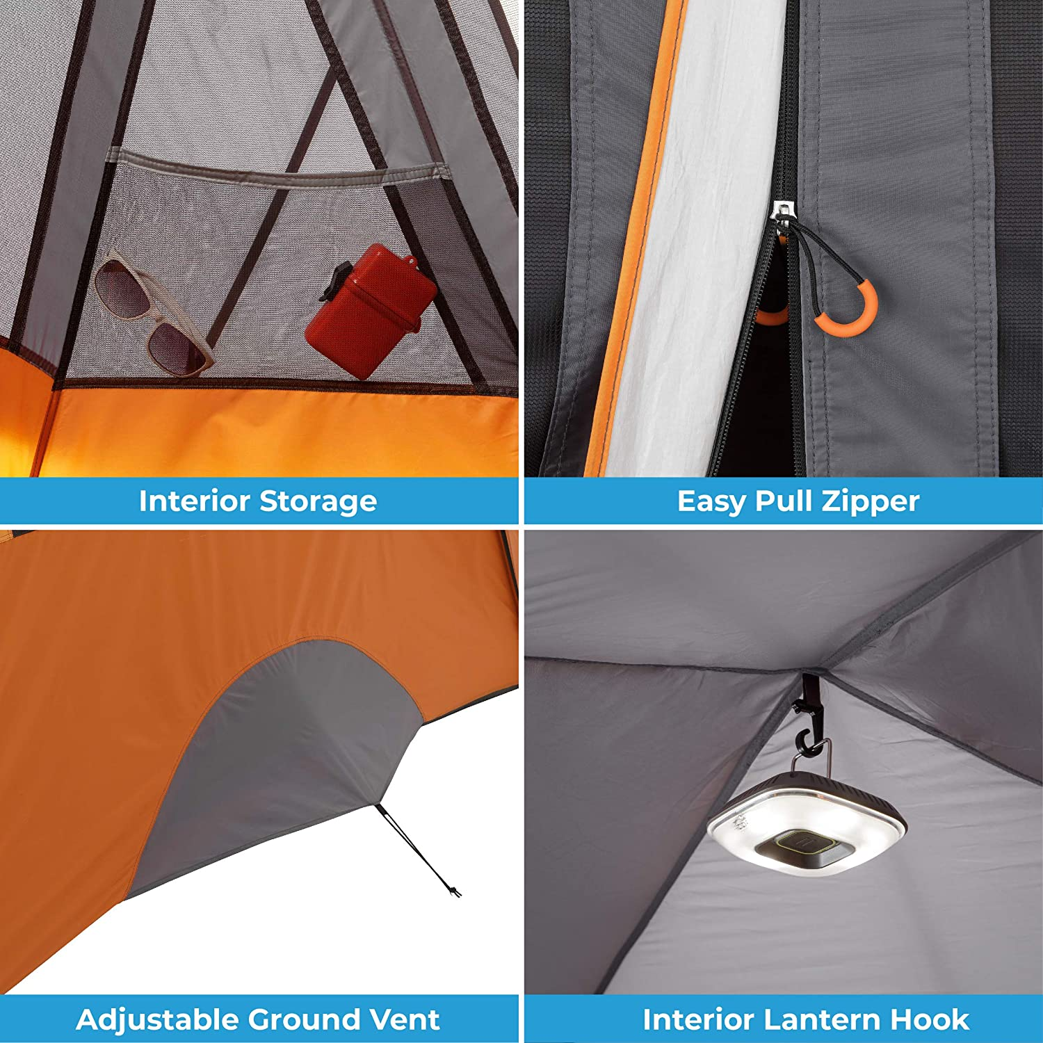 core 11 person extended dome tent