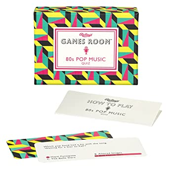amazon com ridley s 80s pop music quiz card game for kids and