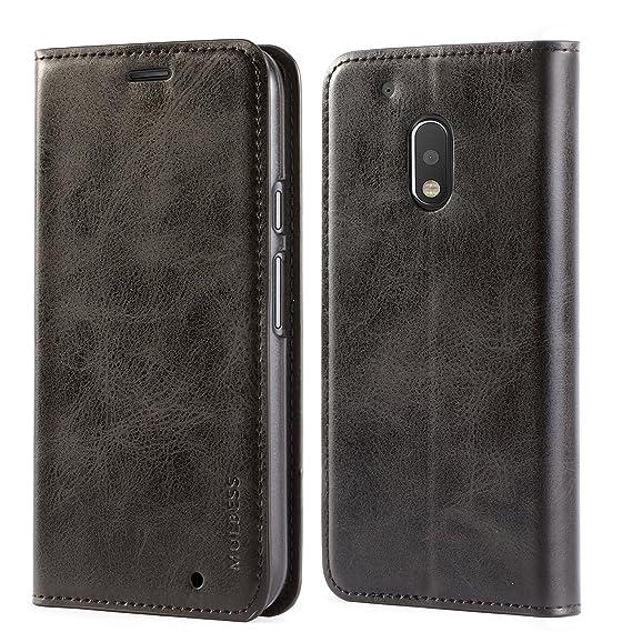 pretty nice da4c2 23d7b Motorola Moto G4 Play Case,Mulbess PU Leather Wallet Case with Kickstand  for Lenovo Motorola Moto G4 Play [5.0 inch],Black