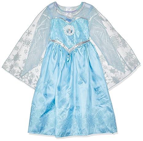 809c35d5bef0 Rubies - Costume Carnevale Elsa, regina del ghiaccio da Disney Frozen, per  bambine,