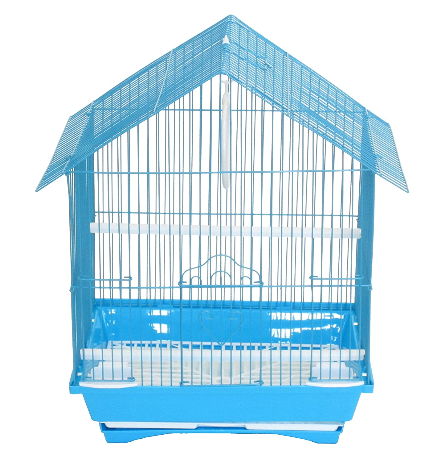 YML A1314MBLU House Top Style Small Parakeet Cage, 13.3Lx10.8Wx17.8H-Inch YML GROUP INC