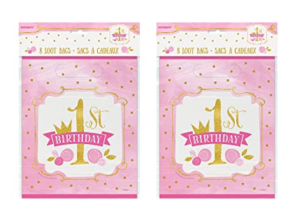 Amazoncom 2 Set Of 8 Unique Industries Pink And Gold Girls 1st